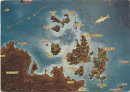 V3560 Sardegna - Arcipelago Della Maddalena - Carta Geografica Map Carte Geographique / Viaggiata 1968 - Carte Geografiche