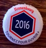 France Capsule Bière Crown Cap Beer Kronenbourg Les Années Qui Comptent 2016 - Bière