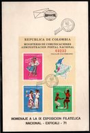 COLOMBIA- KOLUMBIEN - 1971. FD CARD / TPD.  S/S. TRADITIONAL DANCES - Colombia