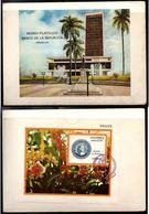 COLOMBIA- KOLUMBIEN - 1977. FD CARD  / TPD. S/S.  PHILATELIC MUSEUM IN MEDELLIN CITY - Colombia