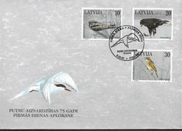 1997  Lettland  Latvija  Lettonie  Mi 447-9 FDC  75 Jahre Aktiver Naturschutz: Vögel.. - Lettonie