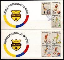 COLOMBIA- KOLUMBIEN - 1982. FDC / SPD. SPORTS - COLOMBIAN SOCCER TEAMS . SET X 4 COVERS. SCARCE - Colombie