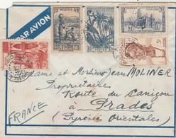 AOF Lettre ABIDJAN Côte D' Ivoire Pour Moliner Prades Pyrénées Orientales - A.O.F. (1934-1959)