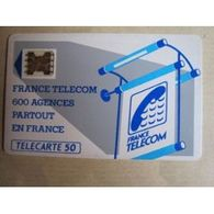 TELECARTE 50 :  France Telecom : 600 Agences Partout En France - Télécartes