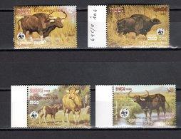 KAMPUCHEA  N° 695 à 698  NEUFS SANS CHARNIERE COTE 18.00€  ANIMAUX - Kampuchea