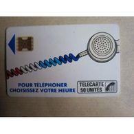 TELECARTE 50 :    Pour Téléphoner Choisissez Votre Heure - Télécartes