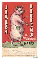 """CPA JAMBON DAUDENS Ancienne Publicité """"le Meilleur De Tous Les York"""" Commerce Charcuterie Publicité Jambon Porc Cochon - Commercio"""