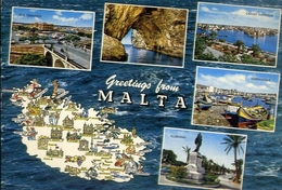 Greetings From Malta - Formato Grande Viaggiata – E 9 - Cartoline