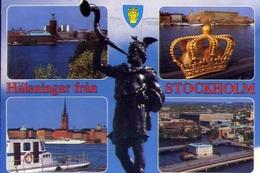 Halsningar Fran Stockolm - Formato Grande Viaggiata – E 9 - Cartoline