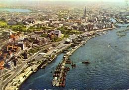 Hamburg - Hafen Und Stadt - Formato Grande Viaggiata Mancante Di Affrancatura – E 9 - Cartoline