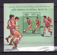 KAMPUCHEA BLOC N° 54   NEUF SANS CHARNIERE COTE 7.00€  FOOTBALL - Kampuchea