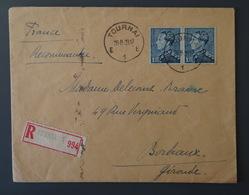 BELGIQUE, Enveloppe Recommandée 1939 - Other