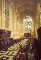 King's College Chapel Cambridge The Choir And Sanctuary - Formato Grande Viaggiata Mancante Di Affrancatura – E 9 - Cartoline