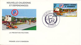 New Caledonia FDC 12-3-1977  Road Safety With Cachet - FDC