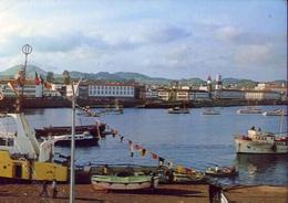 Miguel - Acores - Ponta Delgada - Vista Parcial Do Porto - Formato Grande Viaggiata – E 9 - Cartoline