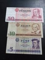 Lot 3 Billets R. D. A. - Coins & Banknotes
