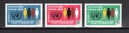 KHMERE N° 268 à 270  NEUFS SANS CHARNIERE COTE 6.00€  LUTTE CONTRE LE RACISME - Kampuchea