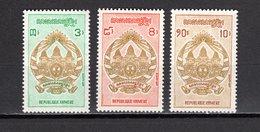 KHMERE N° 281 à 283  NEUFS SANS CHARNIERE COTE 3.00€  ARMOIRIE - Kampuchea