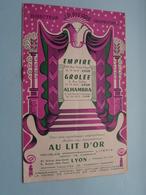 LYON - EMPIRE Rue Victor Hugo - GROLEE Rue Grolée - ALHAMBRA Rue De La Guillotière / Anno 1955 LYON ( Voir Photo ) ! - Programma's