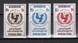 KHMERE N° 284 à 286  NEUFS SANS CHARNIERE COTE 3.00€  UNICEF - Kampuchea