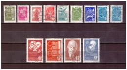 URSS778) 1978 -Serie Ordinaria Su Carta Gessata- Serie Cpl 13val  4505-17 Used - Used Stamps