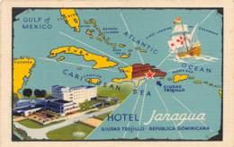 République Dominicaine / 02 - Carte Illustrée - Hôtel Jaragua - Dominicaine (République)