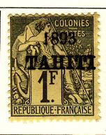 Tahiti 1893 Y&Tn°30 - Michel N°29 (o) - 1f Timbre Des Colonies - Tahiti (1882-1915)