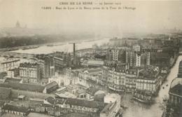 PARIS CRUE DE LA SEINE 1910 RUE DE LYON ET DE BERCY - La Crecida Del Sena De 1910