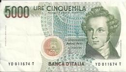 ITALIE 5000 LIRE 1985 VF P 111 C - [ 2] 1946-… : République
