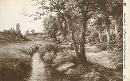 -ref-B356- Arts - Tableaux - Tableau - Salon Ecole Française 1914 - Peintre E. François - Le Ruisseau - Carte  Bon Etat - Peintures & Tableaux