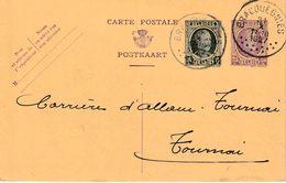 """ENTIER (B) REPIQUAGE """" BRACQUEGNIES 31.X.1927"""" + """" S.A. Des CHARBONNAGES, HAUTS-FOURNEAUX & USINES/STREPY-BRACQUEGNIES - Stamped Stationery"""