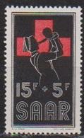 Saarland 1955 MiNr.360 ** Postfr.Rotes Kreuz ( 8414 ) Günstige Versandkosten - 1947-56 Occupation Alliée