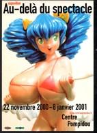 PARIS Centre Pompidou Manga**HIROPON**par Takashi MURAKAMI  Expo De 2000-2001 Carte Pub NEUVE - Expositions
