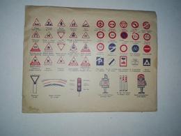ENVELOPPE AUTO ECOLE PANNEAUX SIGNALISATION 1961 CACHET PREFECTURE - Diplômes & Bulletins Scolaires