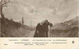 -ref-B354- Arts - Tableaux - Tableau - Salon De Paris - Peintre V. Tardieu - Les Heures De La Vie - Le Crepuscule - - Peintures & Tableaux