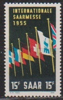 Saarland 1955 MiNr.359  ** Postfr. Intern. Saarmesse, Saarbrücken ( 8415 ) Günstige Versandkosten - 1947-56 Occupation Alliée