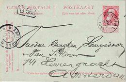 "ENTIER (B) REPIQUAGE "" HERSTAL  31 MAI 1910"" + "" CHARBONNAGE DE, BONNE-ESPERANCE / Herstal - Stamped Stationery"