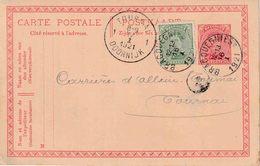 """ENTIER (B) REPIQUAGE """"BRACQUEGNIES 16.I.1921"""" + """"S. A.  CHARBONNAGES, HAT-FOURNEAUX Et USINES De STREPY-BRACQUEGNIES - Stamped Stationery"""