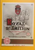 9482 - Royal Saint-Emilion 1962 étiquette Format 16,2 X 12.2 - Bordeaux