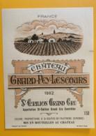 9483 - Château Grand-Pey-Lescours 1982 1L50  Saint-Emilion - Bordeaux