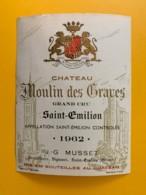 9490 - Château Moulin Des Graves 1962  Saint-Emilion - Bordeaux