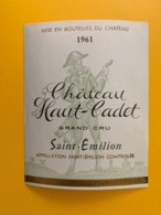 9491 - Château Haut-Cadet 1961  Saint-Emilion - Bordeaux