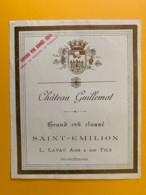 9494 - RARE 1904 Château Guillemot Saint-Emilion - Bordeaux