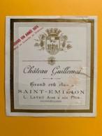 9493 - RARE 1904 Château Guillemot Saint-Emilion Petite étiquette, Endommagée - Bordeaux