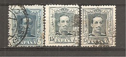 España/Spain-(usado) - Edifil  315-A-B - Yvert  277, 287, 287a (o) - 1889-1931 Kingdom: Alphonse XIII