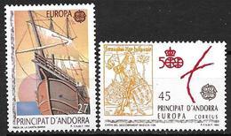 Andorre Espagnol 1992 N°216/217 Neufs Europa Découverte De L'Amérique - Spanisch Andorra