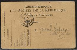 """Tàd """"Poste Aux Armées D"""" (bureau Frontière) Le 2.6.1918 / CP FM Officielle Sans Drapeaux Modèle A1 - 1. Weltkrieg 1914-1918"""