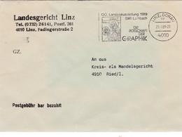 """Piétà, Stift Lambach, Stempel Auf """"Postgebühr Bar Bezahlt"""" Brief - Christentum"""
