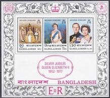 Bangladesch Bangladesh 1977 Geschichte History Königshäuser Royals Königin Elisbaeth II. Queen, Bl. 3 ** - Bangladesch
