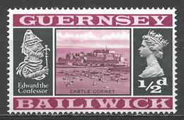 Guernsey 1969. Scott #8 (MNH) Castle Cornet And Edward The Confessor * - Guernesey